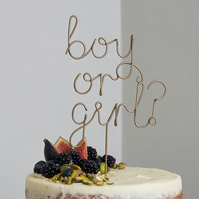 Gender Reveal Wire Cake Topper