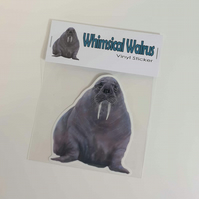 Walrus vinyl sticker. Love Walruses . Walrus Decal . Walrus Lover Gift