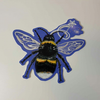 Fairy bee vinyl sticker . Love bees . Bug lover gift . Love fairies