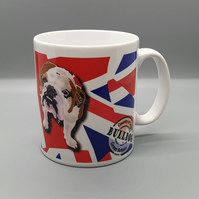 British bulldog & Union Jack ceramic mug . Love bulldogs . Gift for dog lover