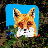 Fox drinks coaster . Animal illustration . Love foxes . Gift for nature lover