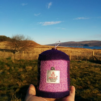 Lovely Harris Tweed pin cushion with needle threader
