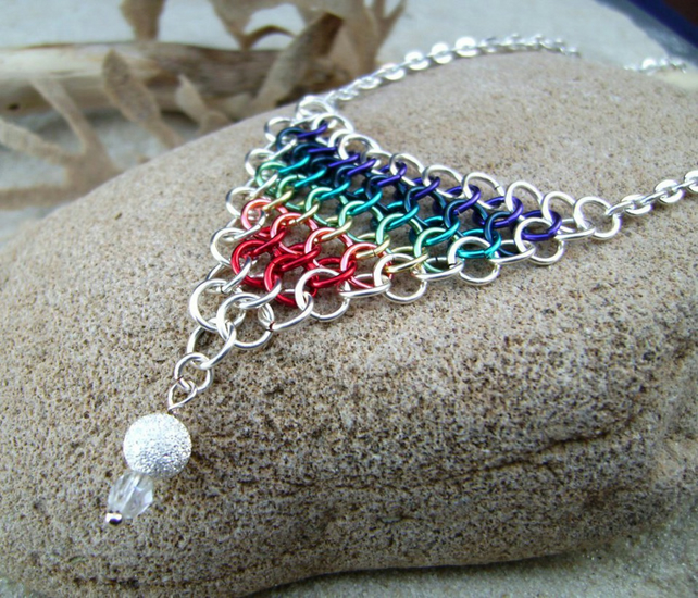 Chakra Chainmail Pendant Necklace