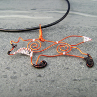 Fox Wire Pendant Necklace