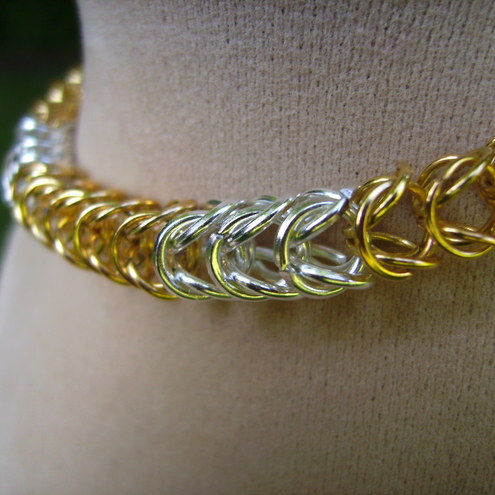 Chainmail  Bracelet Gold & Silver Plated