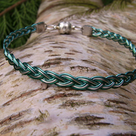 Coated copper wire braided bracelet