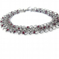 chainmail choker necklace Dragon Blood Droplet