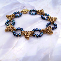 Chainmail Goldie Blues Bracelet