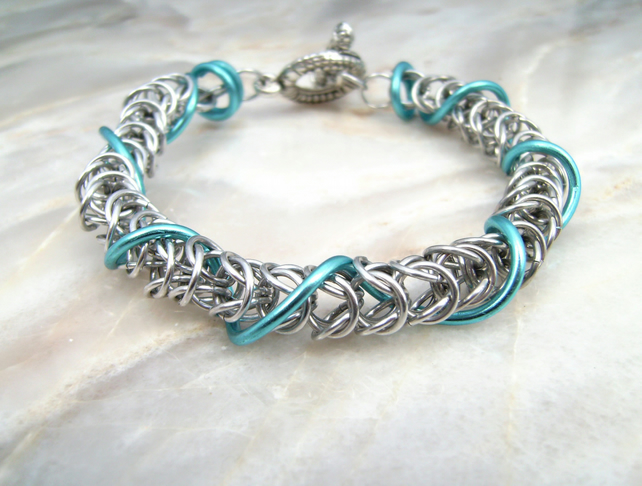 Wire Wrap Chainmail Bracelet