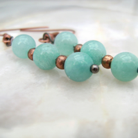 Copper Amazonite Earrings