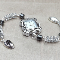 Ladies Chainmaille Heamatite Watch