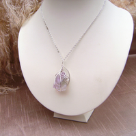 Fluorite Wire Wrapped Rock Necklace