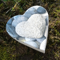 Pebble Heart Gift Trinket Box