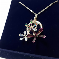 Sparle Flowers Wire Necklace
