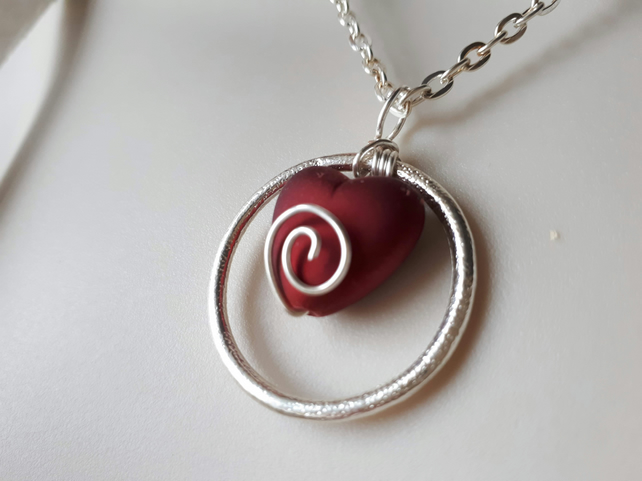 Spiral Heart Valentine Necklace