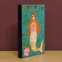 Whimsical Mermaid Small Art Block
