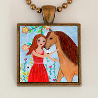 Kindred Spirits, Horse Pendant Necklace