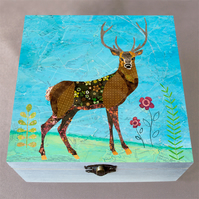 Stag Jewellery Box, Birthday Gift, Christmas Gift, Wooden Box