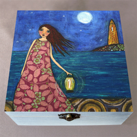Twilight Jewellery Box, Birthday Gift, Christmas Gift, Wooden Box