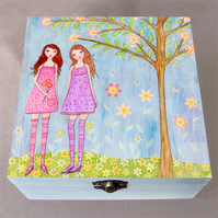 A Lovely Day Jewellery Box, Birthday Gift, Christmas Gift, Large Wooden Box