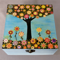 In Full Bloom Jewellery Box, Birthday Gift, Christmas Gift, Wooden Box