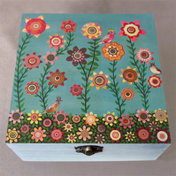 Dreaming of Spring Jewellery Box, Birthday Gift, Christmas Gift, Wooden Box