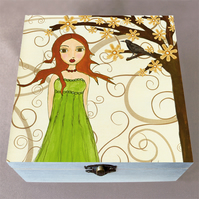 Waiting Jewellery Box, Birthday Gift, Christmas Gift, Wooden Box