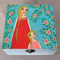 So Alike Mother Daughter Jewellery Box, Birthday Gift, Christmas Gift Wooden Box
