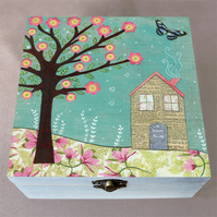 Dream House Wooden Box, Stationery Box, Birthday Gift, Christmas Gift