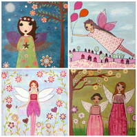 Mini Art Print Set - Fairies