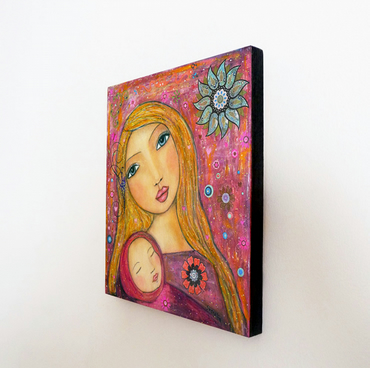 Sweet Lullaby Large Art Block Painting