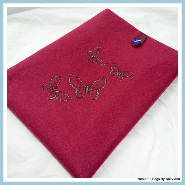 Embroidered I Pad Sleeve
