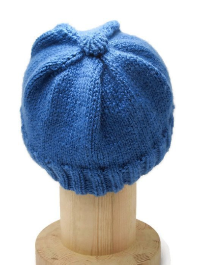 Hand Knitted blue beret