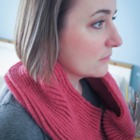 Pink Ripple Infinity Cowl