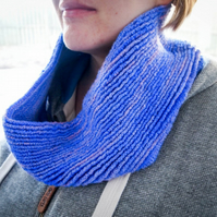 Ripple Infinity Cowl - Variegated Pink & Purple