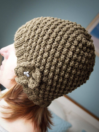 The Daisy Beanie Knitting Pattern - DIGITAL PATTERN ONLY