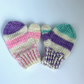 Hand Knitted mittens 3-6 months multicolour stripes
