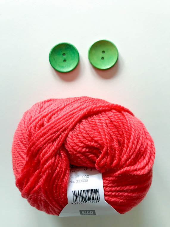 Triple braid headband kit - Knitting, crafts, handmade - Melon red