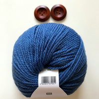 Triple braid headband kit - Knitting, crafts, handmade - Denim Blue
