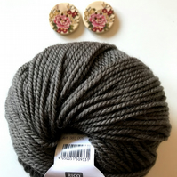 Triple braid headband kit - Knitting, crafts, handmade - Khaki Brown
