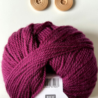 Triple braid headband kit - Knitting, crafts, handmade - Berry Purple