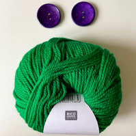 Triple braid headband kit - Knitting, crafts, handmade - Emerald Green