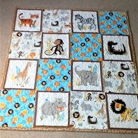 patchwork quilt  or play mat