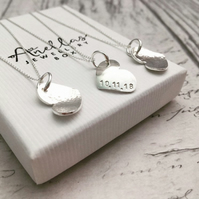 Bridesmaid Gift Silver Heart Necklace, Friend Gift, Gift for Bridesmaid