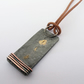 Mens pendant, silver, gold and copper rustic handmade cord necklace