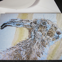 Hare design greeting card