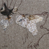 Red Deer original hand stitched artwork