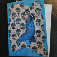 Peacock blank greeting card