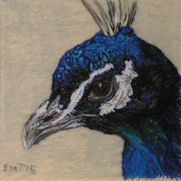 Peacock textile artwork