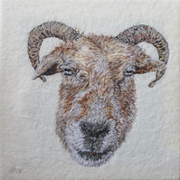 Sheep textile art